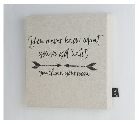 Clean room arrows canvas frame