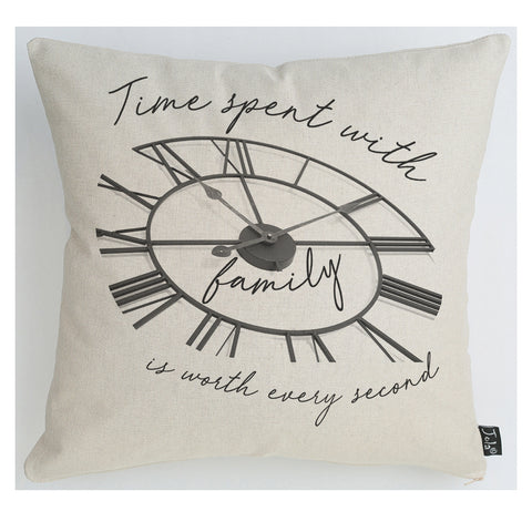 Family Time Clock cushion