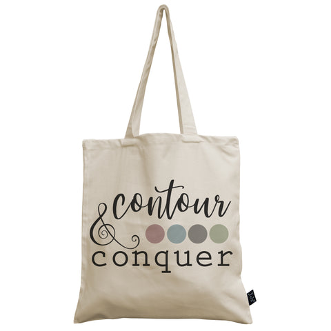 Contour & Conquer canvas bag