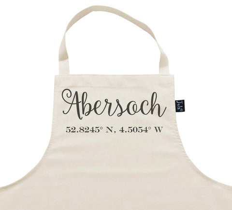 Personalised Coordinates City Apron
