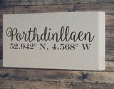 Trade only Personalised Coordinates Long canvas frame