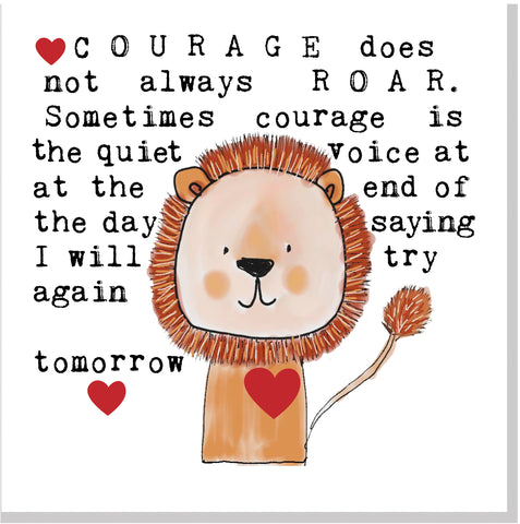 Courage Lion... square card