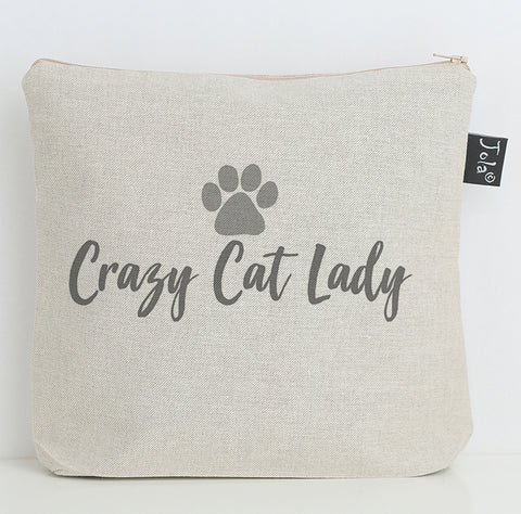 Crazy Cat Lady wash bag