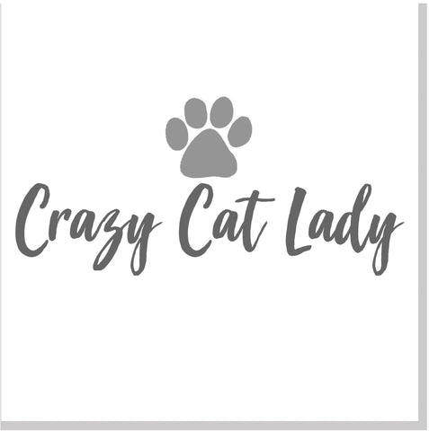 Crazy Cat lady square card
