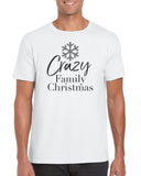 Cotton Men's Crazy Family Christmas T Shirt
