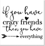 Crazy Friends square card