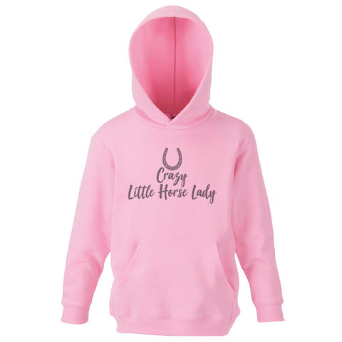 Crazy Little Horse Lady Pink Toddler Hoodie