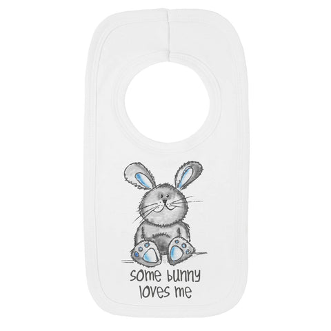 Cute Some Bunny Loves me bib