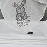 Cute Some Bunny Loves Me Muslin