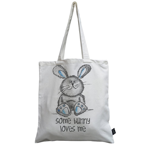 Cute Some Bunny Loves Me Canvas bag