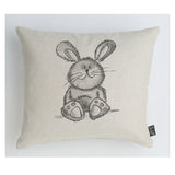 Cute Bunny Grey Cushion