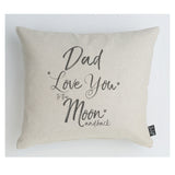 Dad Love you to the Moon sparkly cushion