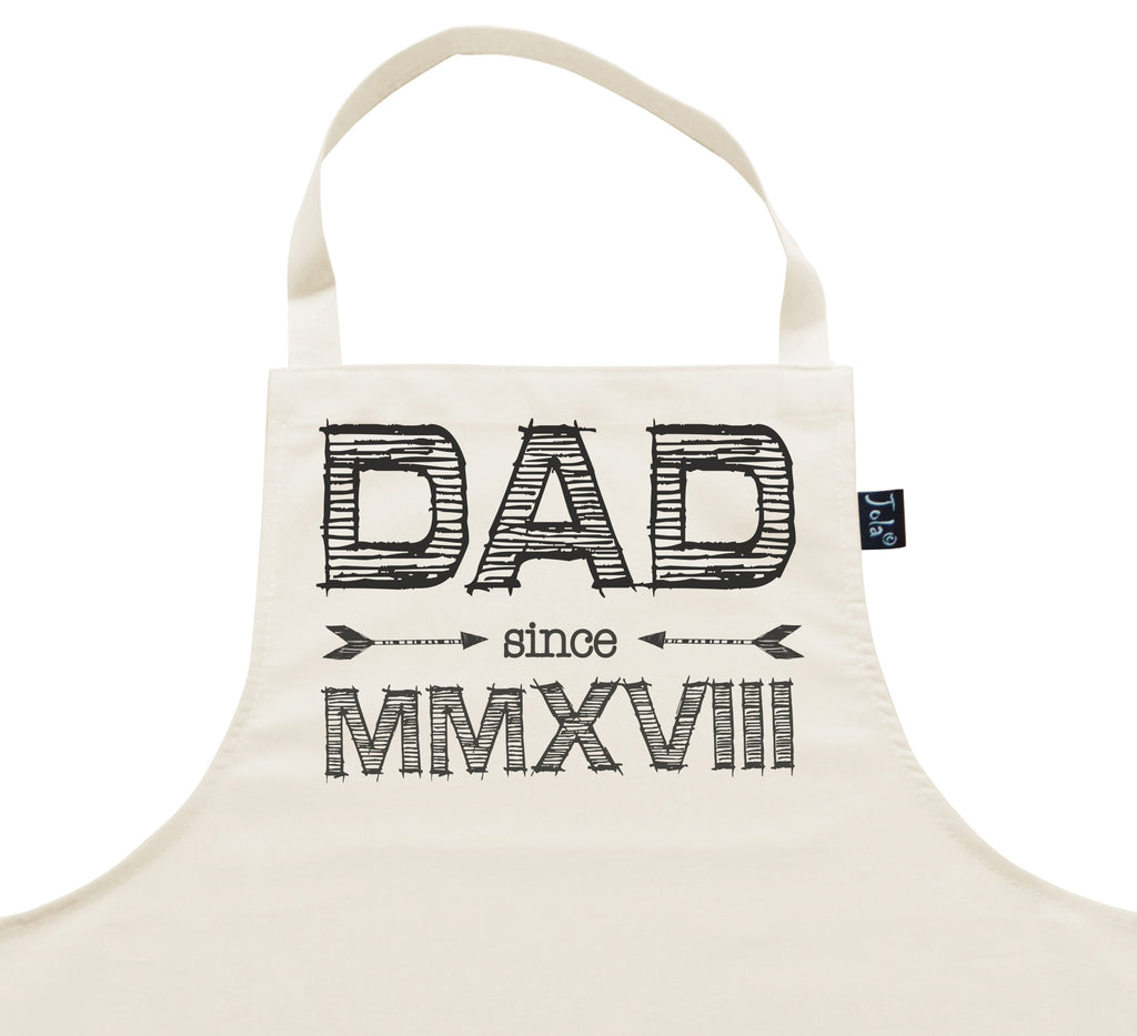 Daddy since 2018 Roman Numerals Apron