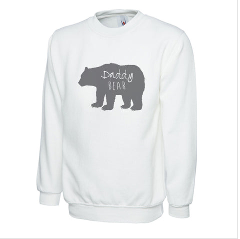 Cotton Mens Sweatshirt Daddy Bear