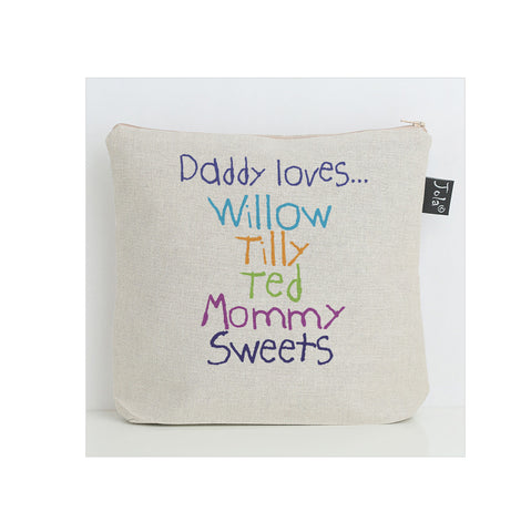 Personalised Daddy Loves Wash bag