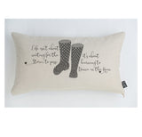 Dance in the Rain spotty Wellies cushion