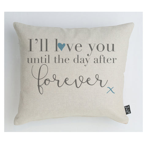 Day after forever blue heart cushion