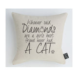 Diamond Cat Cushion