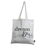 Dream big canvas bag