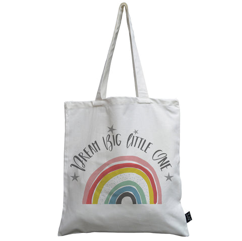 Dream Big Rainbow canvas bag