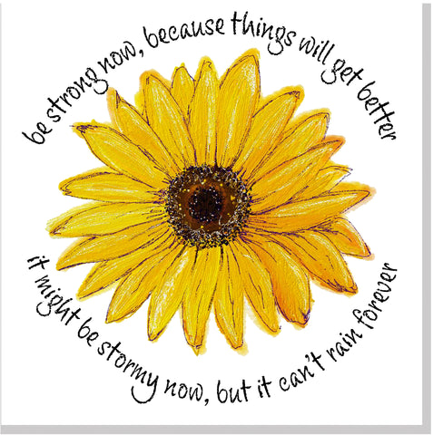 ECH Sunflower Be strong... square card