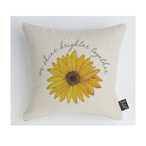 We shine brighter together ECH sunflower cushion