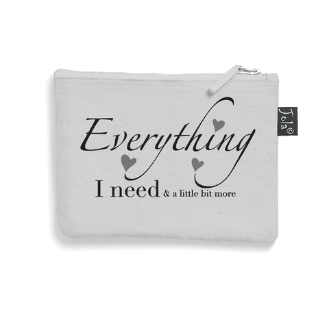 Grey Brushed cotton Everything Needed make up bag