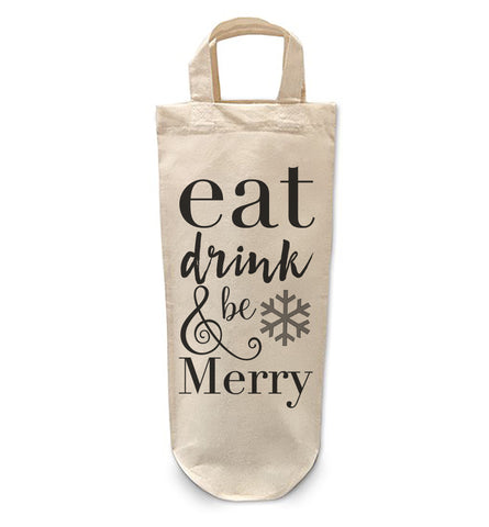 Eat Drink and be Merry Bottle Bag