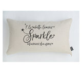 Personalised She leaves sparkle stars cushion
