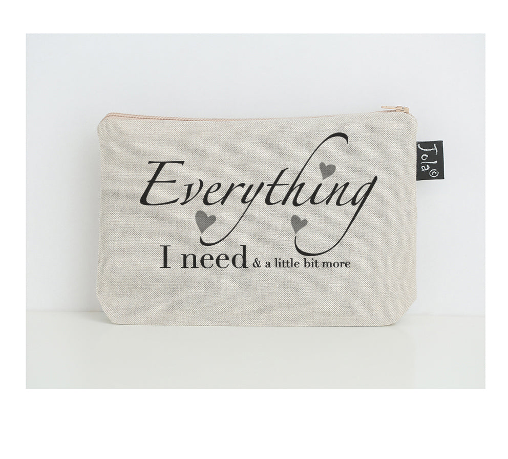 Everything I need small make up bag