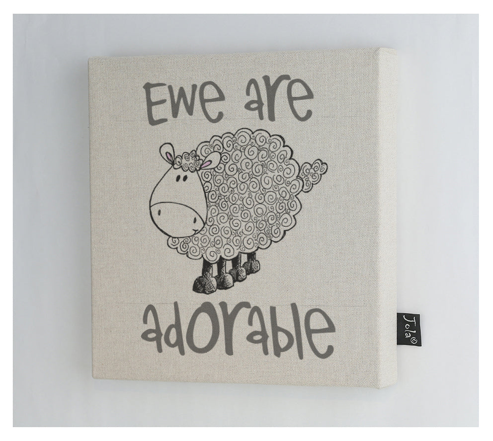 Ewe are adorable canvas frame