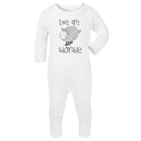 Ewe are adorable Babygrow grey