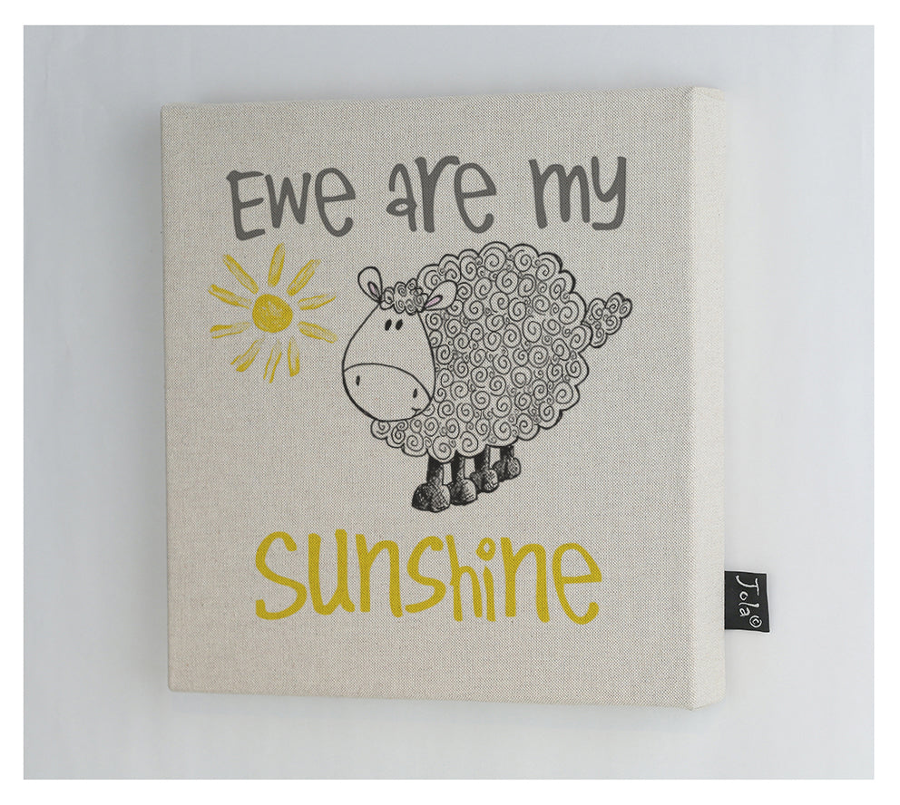 Ewe are my sunshine canvas frame