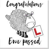 Congratulations ewe passed square card