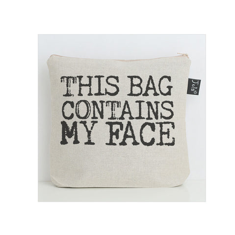 This bag contains my face wash bag
