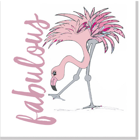 Fabulous Flamingo square card