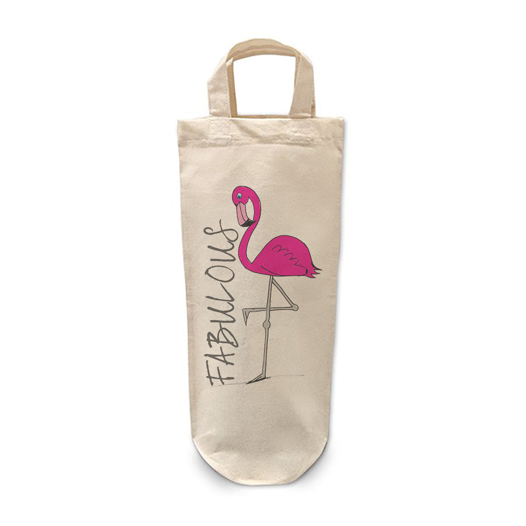 Fabulous Flamingo Bottle Bag