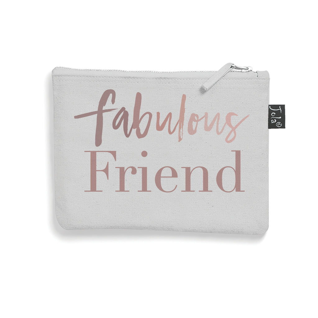 Grey Brushed cotton Fabulous Friend make up bag