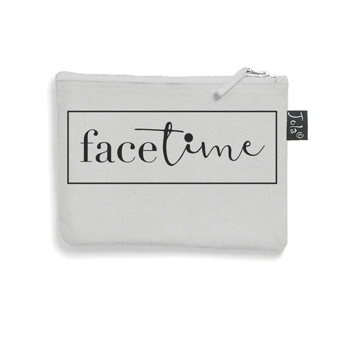 Brushed cotton FaceTime make up bag