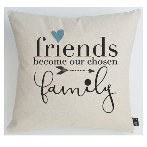 Friends family blue heart cushion