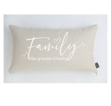 Family Greatest Blessing cushion