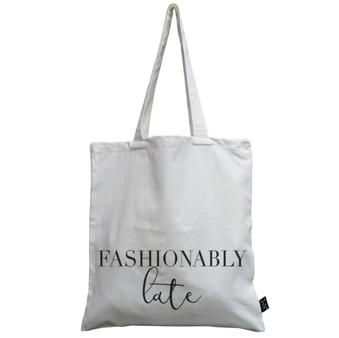 Fashionably Late canvas bag
