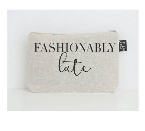 Fashionably Late small make up bag