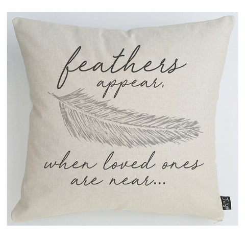 Feathers appear cushion