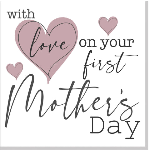 First Mother's Day square card