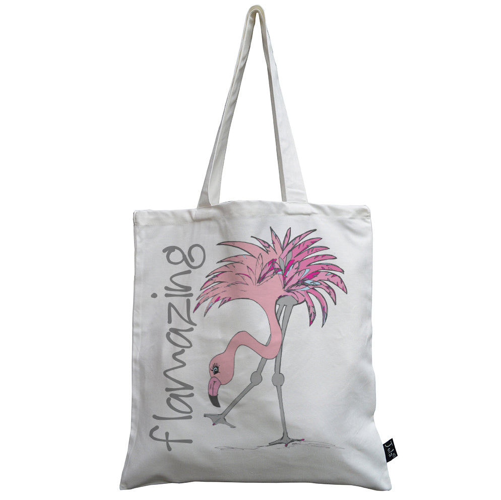 Flamazing Flamingo canvas bag