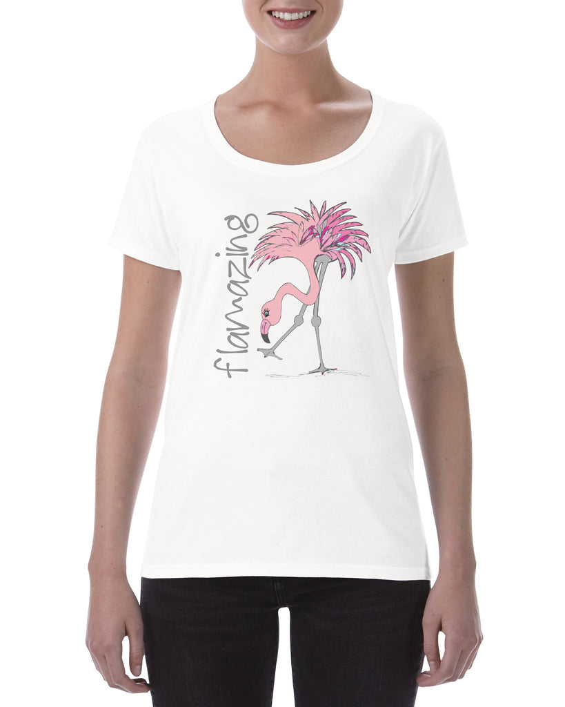 Cotton T Shirt Flamazing flamingo