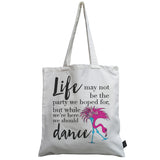 Flamingo life party canvas bag