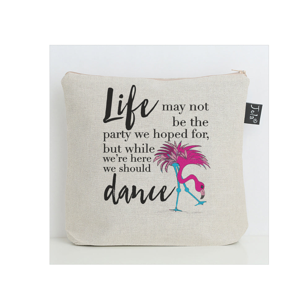 Flamingo Life Party washbag