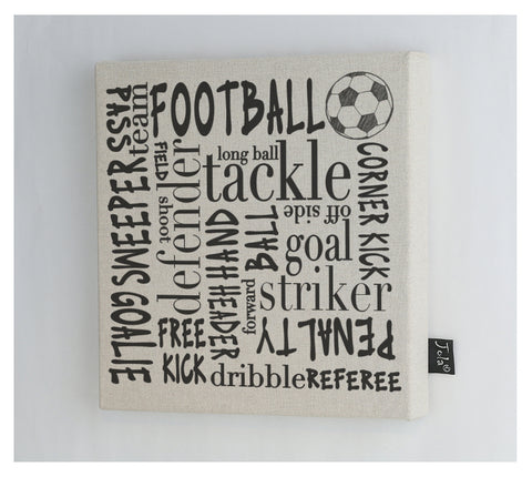 Football Typography Canvas Frame